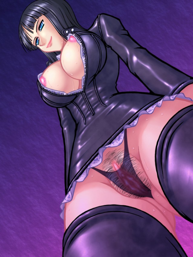 blush giantess nico_robin one_piece pussy tall upskirt