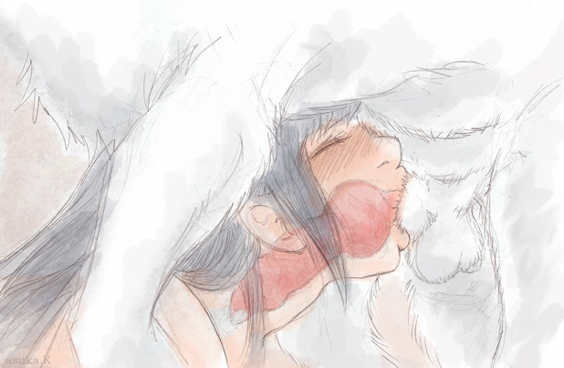 akamaru akamaru_(naruto) artist_request bestiality cum cum_in_mouth deep_throat deepthroat dog dog_blowjob fellatio hinata hyuuga_hinata knot naruto oral penis wolf x-ray