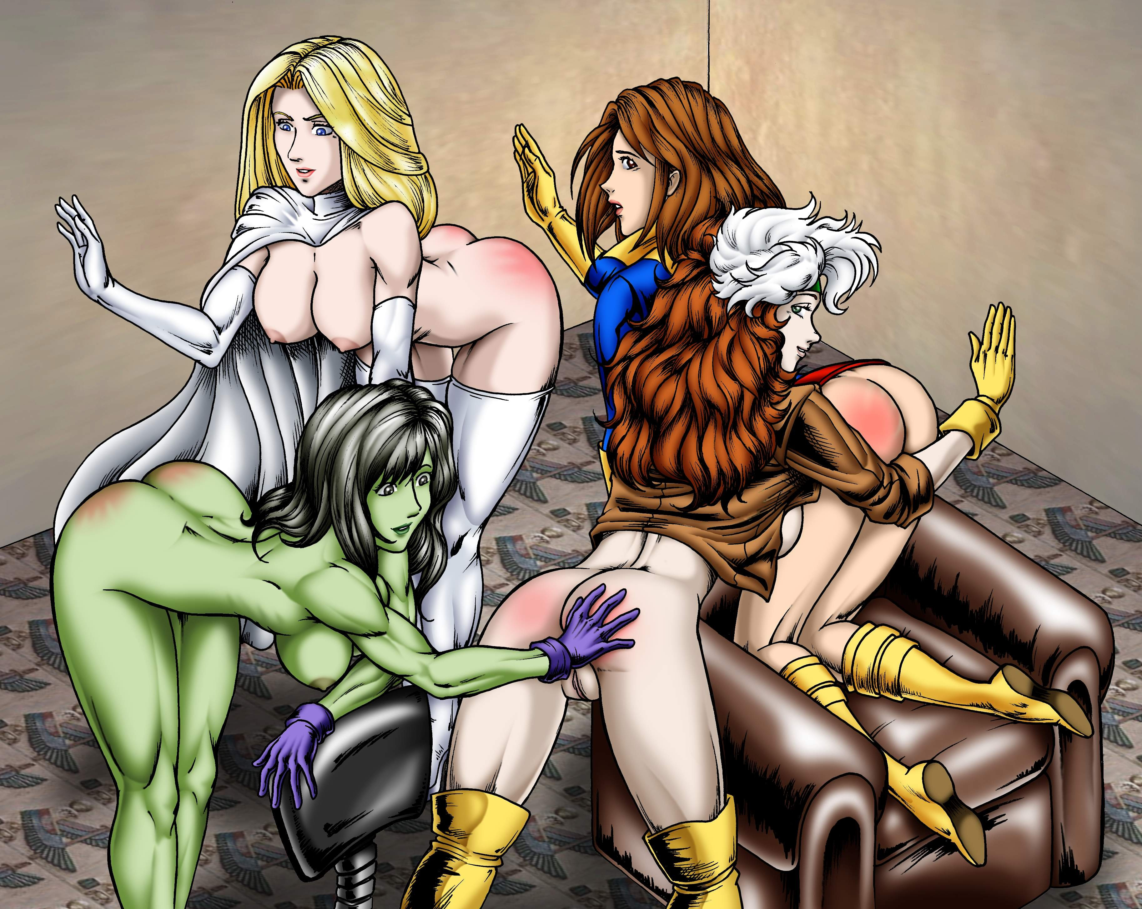 Rogue cartoon hentai erotica scene