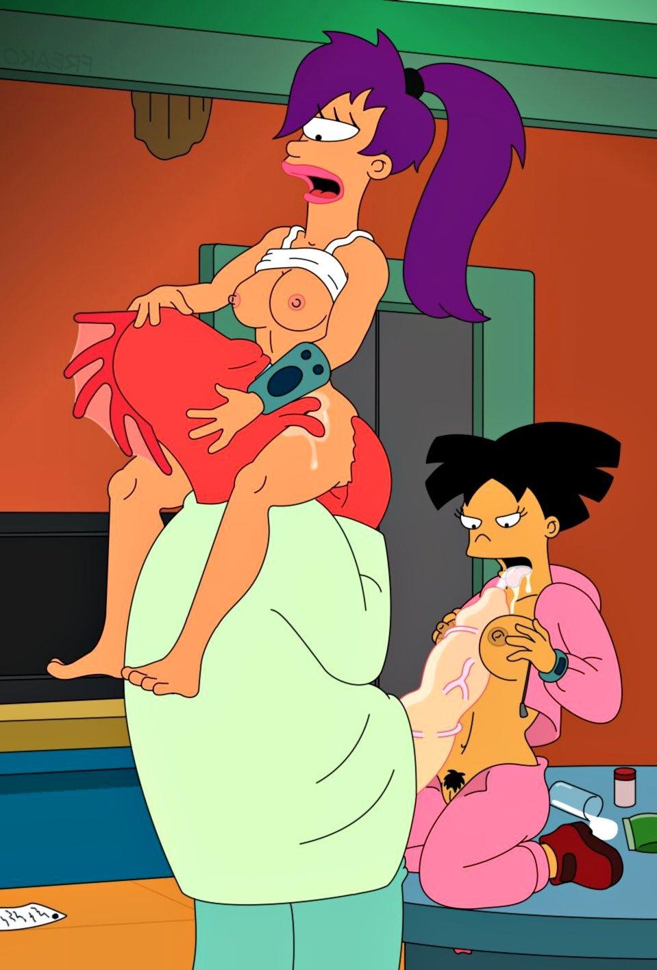 Порно фото из мультиков футурама симпсоны