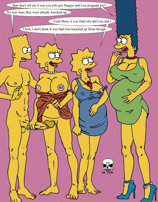 Marge And Lisa Simpson Porn Simpsons Bart Fear Deff Rainpow